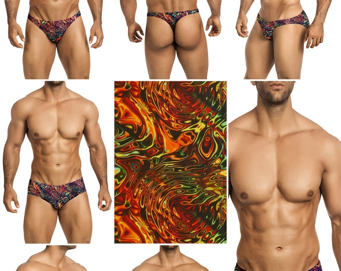 Rusty Lava Swimsuits for Men by Vuthy Sim in Thong, Bikini, Brief, Squarecut, Boxer, or Board Shorts - 306