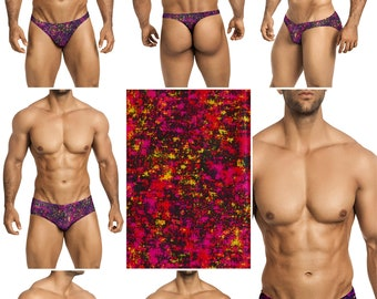 Purple Haze Swimsuits for Men by Vuthy Sim in Thong, Bikini, Brief, Squarecut, Boxer, or Board Shorts - 304