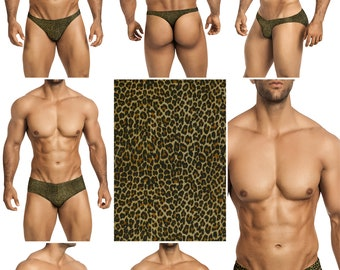Leopard Mesh Erotic Underwear for Men by Vuthy Sim in Thong, Bikini, Brief, Squarecut - 288