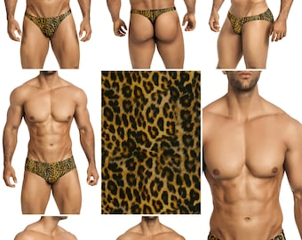 Leopard King Swimsuits for Men by Vuthy Sim in Thong, Bikini, Brief - 289