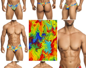 Boiling Lava Swimsuits for Men by Vuthy Sim in Thong, Bikini, Brief, Squarecut, Boxer, or Board Shorts - 295