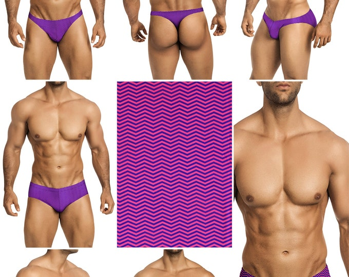 Pink Scream Swimsuits for Men by Vuthy Sim in Thong, Bikini, Brief, Squarecut, Boxer, or Board Shorts - 272