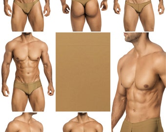 Solid Sable Swimsuits for Men by Vuthy Sim in Thong, Bikini, Brief, Squarecut, Boxer or Board Shorts - 27