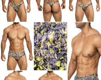 Vibrant Gray, Lime & Black Camouflage in 7 Styles - 250