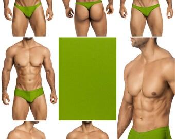 Moss Green Swimsuits for Men by Vuthy Sim. Choose Thong, Bikini, Brief - 26