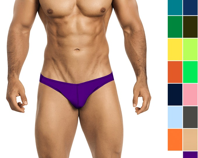 Men's Swim Bikini in 21 Solid Colors from Vuthy Sim