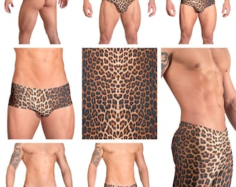 Leopard Print Swimsuits for Men by Vuthy Sim.  Choose Thong, Bikini, Brief - 131