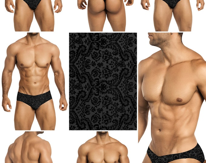 Black Burnt Velvet Mesh in 5 Styles - 217