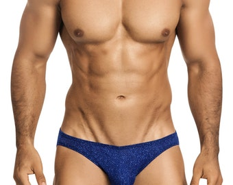 Royal Blue Glitter Men's Bikini Erotic Underwear from Vuthy Sim - 451