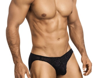 Studly Black Glitter Erotic Underwear In 5 Styles for Men by Vuthy Sim - 455
