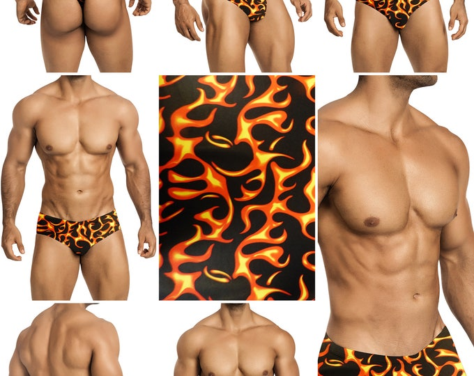 Great Balls of Fire Swimsuits for Men by Vuthy Sim.  Choose Thong, Bikini, Brief, Squarecut - 183