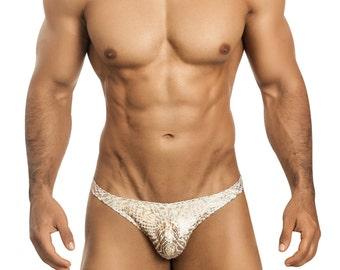 Gold Foil Men's Erotic Gstring Underwear by Vuthy Sim - 456