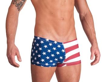 American Flag Swim Squarecut by Vuthy Sim     207-5