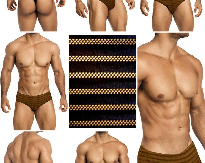 "Black With Black ""Peek-A-Boo"" Mesh Stripes in 5 Styles - 410"