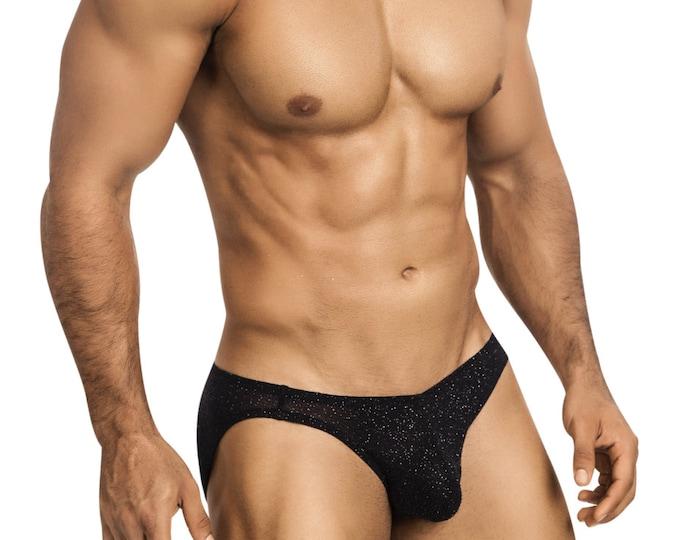 Studly Black Glitter Erotic Underwear In 5 Styles for Men by Vuthy Sim - 455
