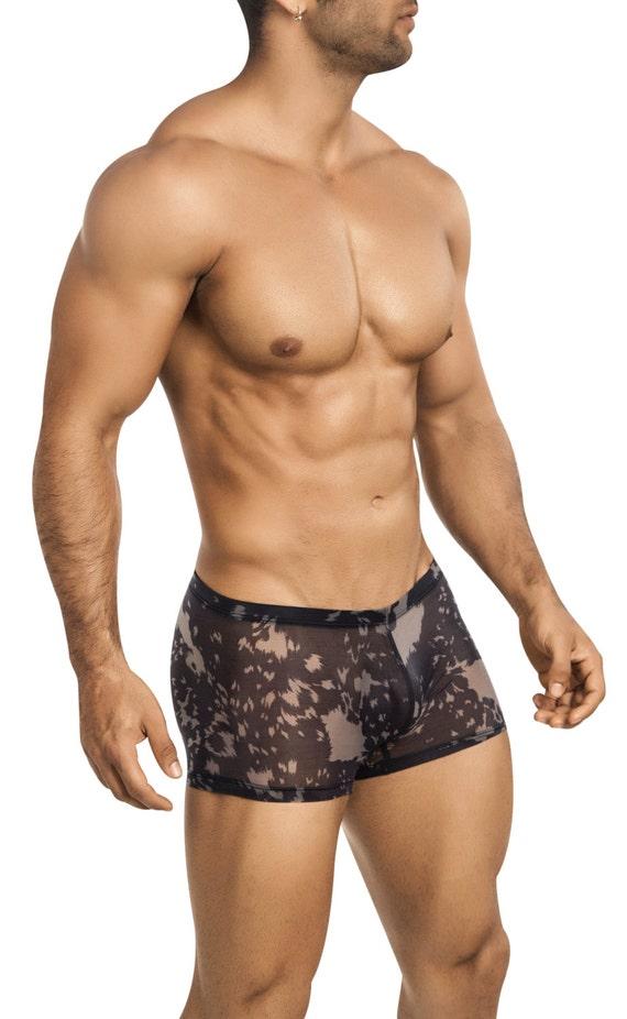 cd8497d3f4 Men's See-Thru Black Mesh Erotic Underwear Squarecut by | Etsy