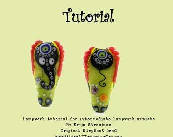 Lampwork Tutorial Elephant glass beads tutorial instant download glass bead tutorial PDF how to make glass bead original Elephant bead
