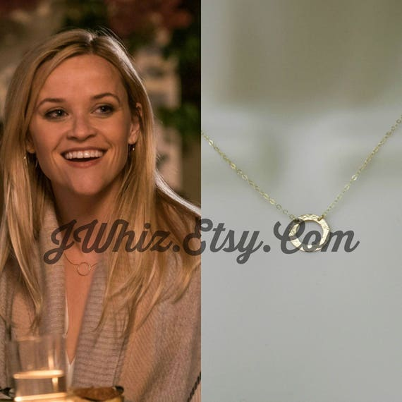 Reese Witherspoon Gold Circle Necklace Home Again Movie 14k Etsy