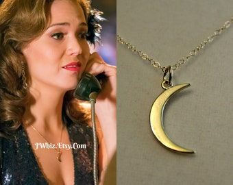 This Is Us Moon Necklace,  Mandy Moore Moon Necklace, Gold Crescent Moon, 14K Gold Fill, Rose Gold, or Sterling Silver, Mother's Day Gift