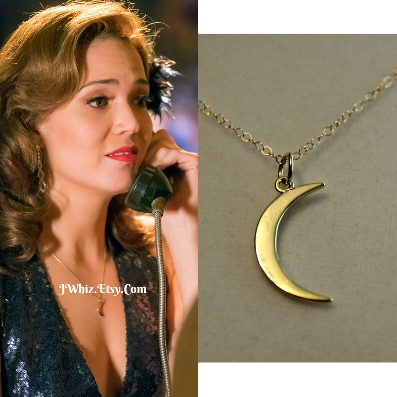 e95a742235deb This Is Us Moon Necklace, Mandy Moore Moon Necklace, Gold Crescent Moon,  14K Gold Fill, Rose Gold, or Sterling Silver, Mothers Day Gift