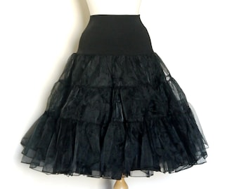 Black Tulle Petticoat - Full Fifties Style - Underskirt - Prom - Full Petticoat - Party