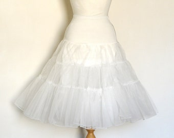 Ivory Off White Tulle Petticoat - Full Fifties Style - Underskirt - Prom - Full Petticoat - Bride - Prom