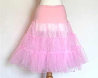 Pale Pink Tulle Petticoat - Full Fifties Style - Underskirt - Prom - Full Petticoat - Bridesmaid