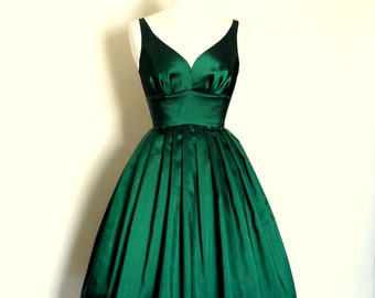 Green Prom Dress Etsy