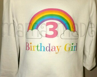 Rainbow Birthday ShirtGirls Shirt Party Girl