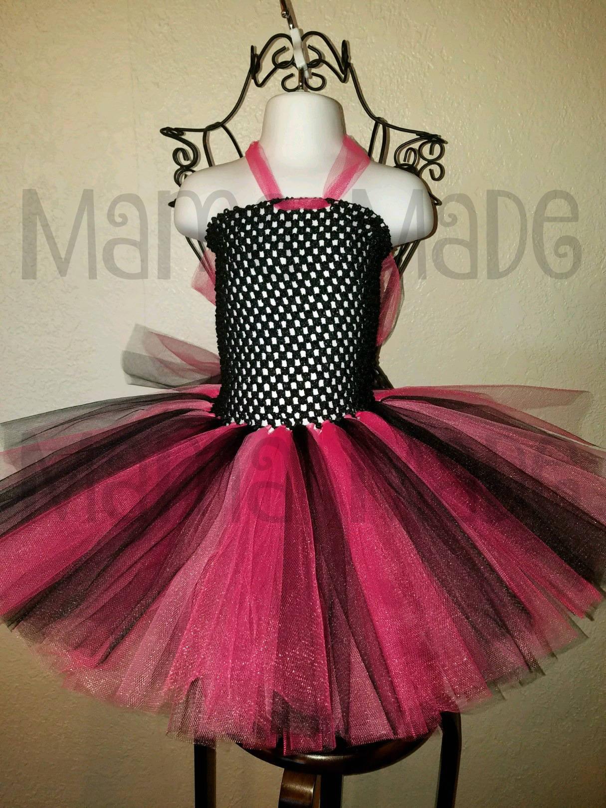 Fuchsia Black And Hot Pinktutu Dressblack And Pink Tutu Etsy
