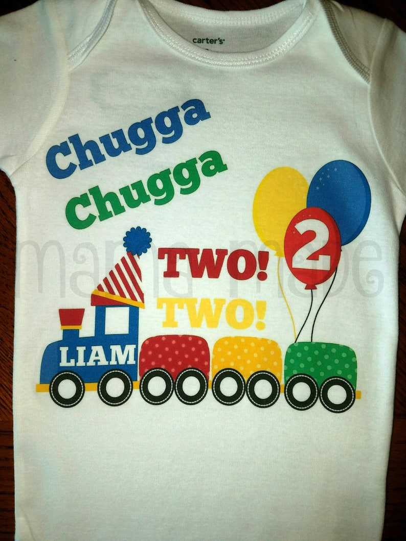 Boys Birthday Shirt 2nd Chugga