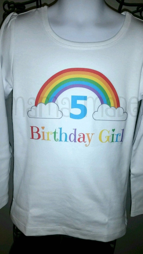 Rainbow Birthday Shirt Or Bodysuit Party