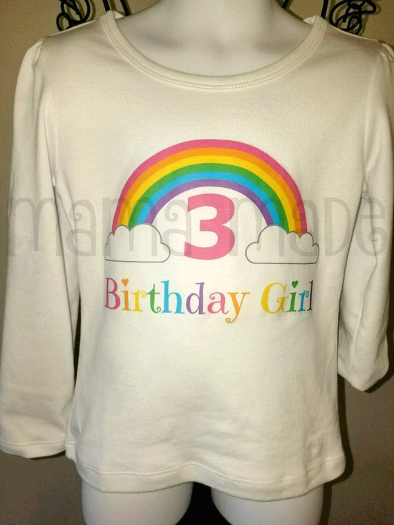 Rainbow Birthday ShirtGirls Shirt Party