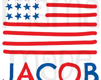 Boy's 4th of july shirt, boy's american flag shirt, flag shirt,  boys patriotic shirt, july 4th tee, personalized 4th of july shirt,july 4th