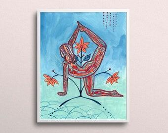 Radha   Yoga Art Print