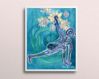 Reach   Yoga Art Print