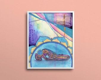 Throat Chakra   Yoga Art Print