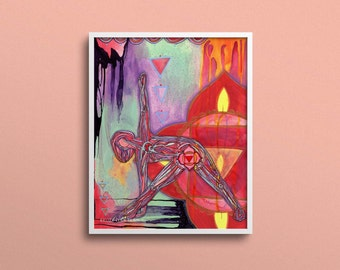 Root Chakra   Yoga Art Print