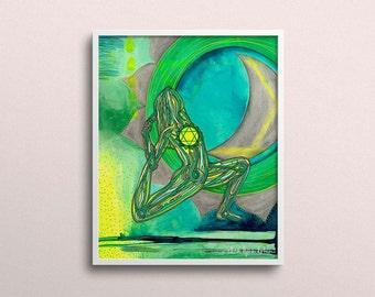 Heart Chakra   Yoga Art Print