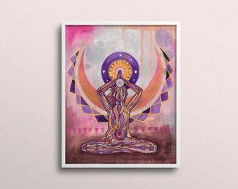 Crown Chakra   Yoga Art Print