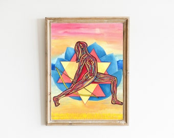 Durga   Yoga Art Print