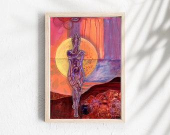 Great Big Wide   Yoga Art Print