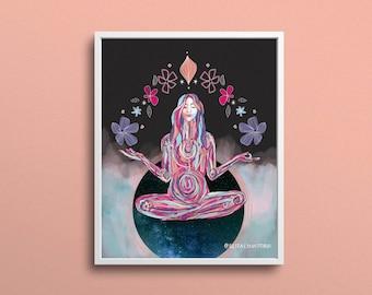 In the Balance   Yoga Art Print