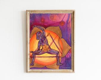 Sacral Chakra   Yoga Art Print