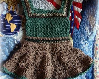 232617f3e Baby girl army dress