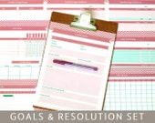 Items similar to goals planner new years resolutions 9 printable goals planner new years resolutions 9 printable templates editable pdf forms a4 and letter size instant download spiritdancerdesigns Gallery