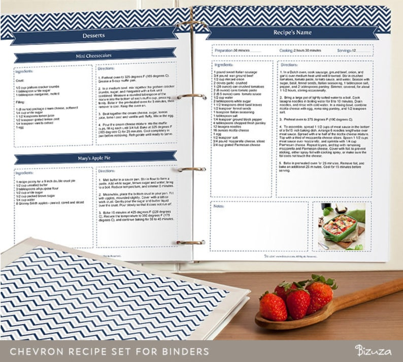 DIY Recipe Book Templates