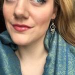"Handmade Gold Chandelier Earrings-The ""Everyday Femininity"" Earrings"