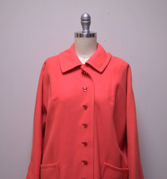 "VINTAGE 1940s/50 ""The Travelaire"" Coral Orange Wo… - image 3"