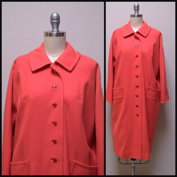 "VINTAGE 1940s/50 ""The Travelaire"" Coral Orange Wo… - image 1"